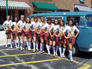 All those Tilted Kilts next to a VW Bus from:DotComd